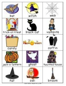 Halloween Pictionary Cards