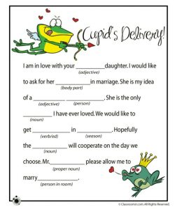 Kids Valentine Mad Libs