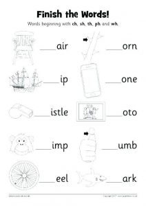 Kindergarten Phonics Worksheets