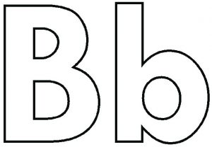 Letter B Coloring Worksheets