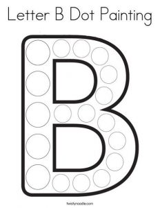 Letter B Dots Worksheet