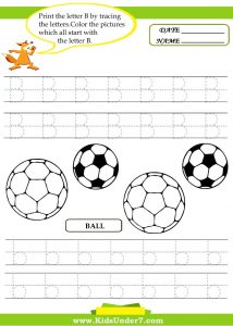 Letter B Worksheet for Toddlers