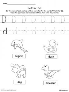 Letter D Recognition Worksheets