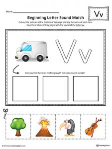 Letter V Phonics Worksheets