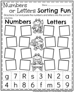 Letter and Number Recognition Worksheets