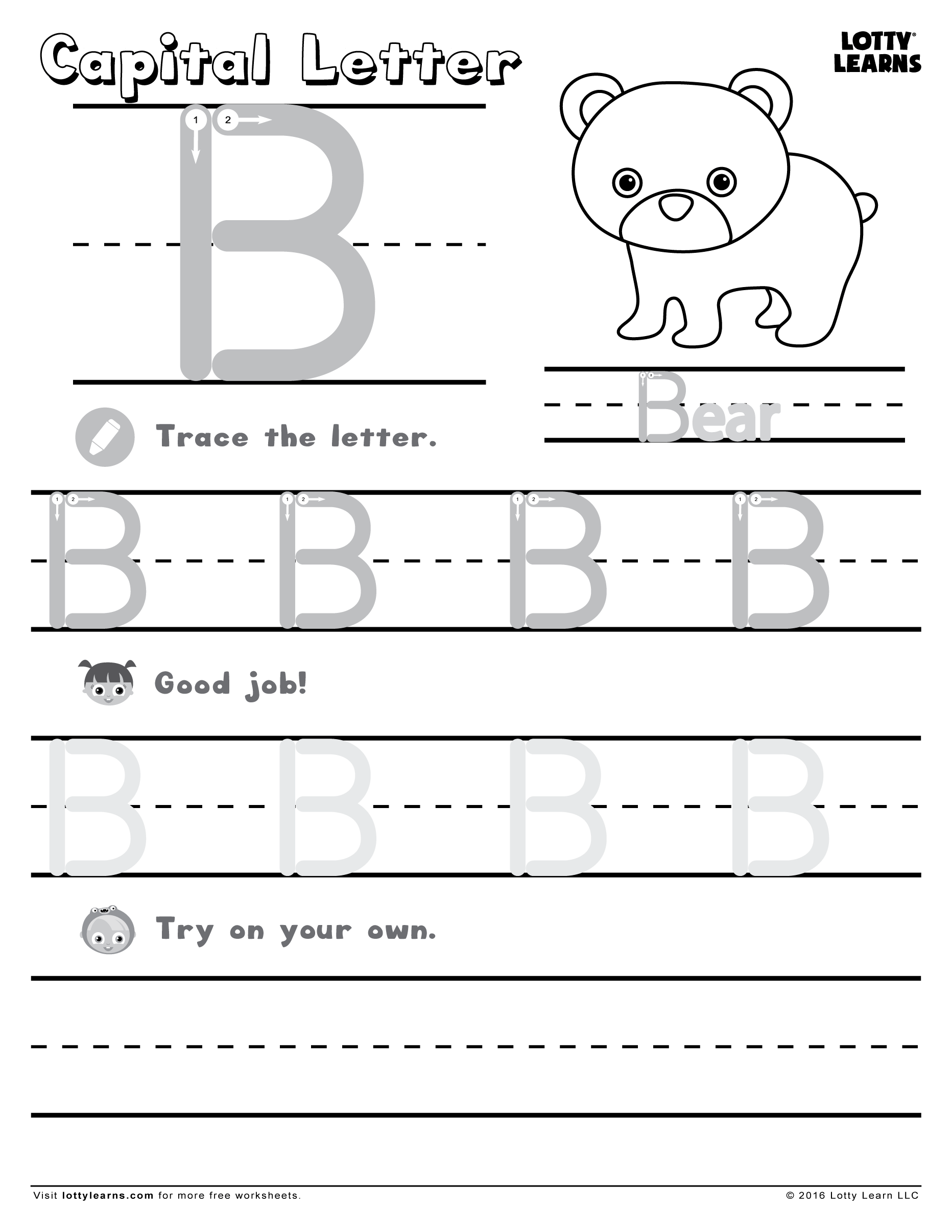 18 letter b worksheets for practicing. Black Bedroom Furniture Sets. Home Design Ideas