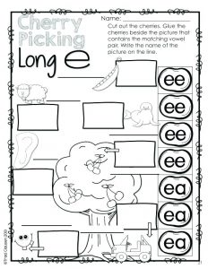 Long E Phonics Worksheets