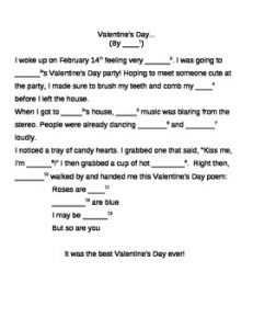 Mad Libs for Valentine's Day