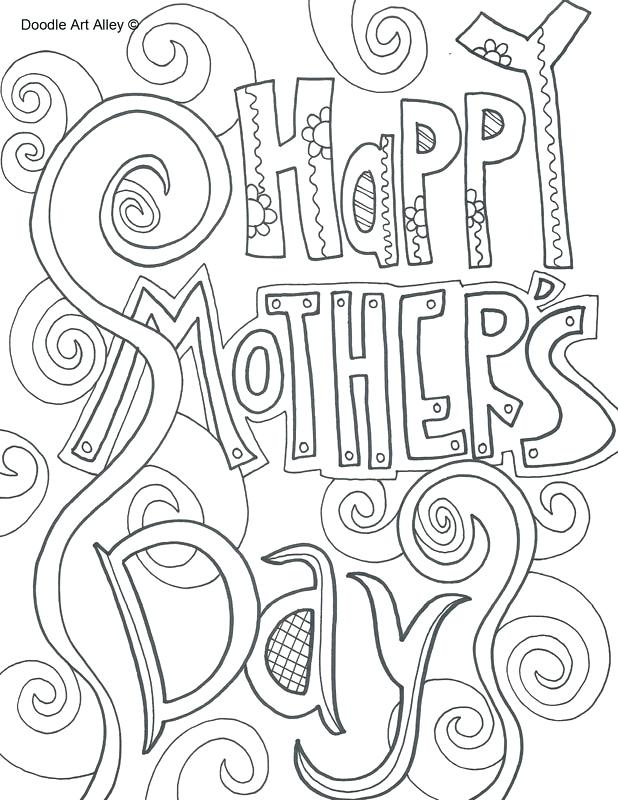 30 Free and Printable Mother's Day Coloring Cards ...