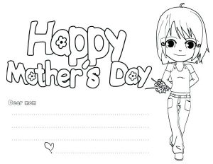Mother's Day Card to Color Free