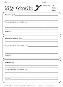 Motivation and Goal Setting Worksheet