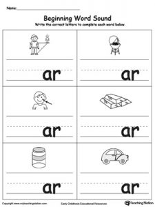 Phonics Ar Sound Worksheets