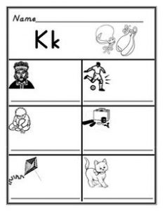 Phonics K Sound Worksheets