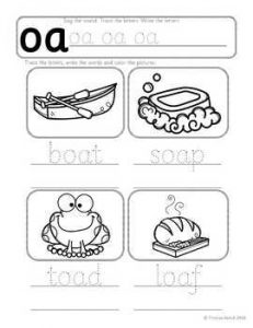 Phonics Oa Sound Worksheets