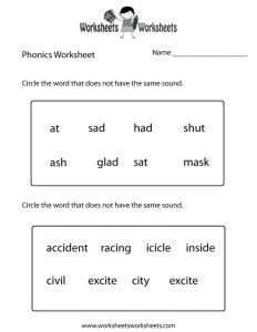 Phonics Worksheets Grade 2