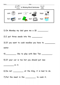Primary Phonics Worksheets