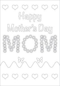 Printable Mother's Day Cards to Color