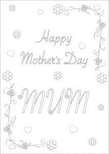 Printable Mother Day Cards to Color
