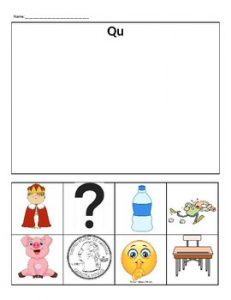 Qu Words Phonics Worksheets