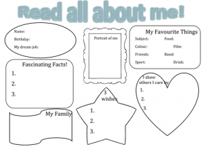 Read All About Me Worksheet KS 1