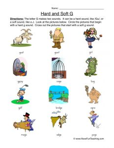 Soft G Phonics Worksheets