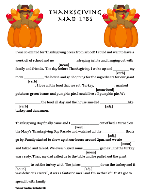 It's just a graphic of Hilaire Mad Libs for Middle Schoolers Printable