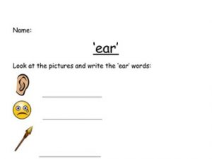 Trigraphs Phonics Worksheets