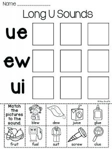 Ue Words Phonics Worksheets