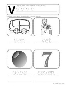 V Phonics Worksheet