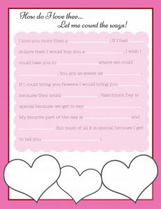 Valentine's Day Mad Libs