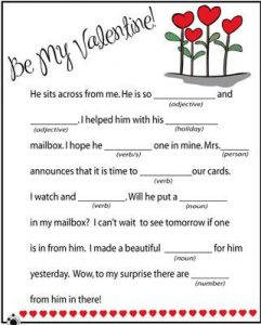 Valentine Mad Libs for Kids