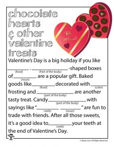 Valentines Mad Libs Printable