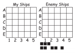 Battleship Coordinate Game Printable