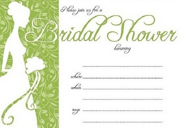 image relating to Free Printable Bridal Shower Invitation Templates referred to as 34 Sophisticated Bridal Shower Invitation Templates