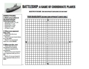 Coordinate Grid Battleship Game Printable
