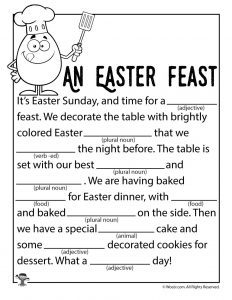 Free Easter Mad Libs