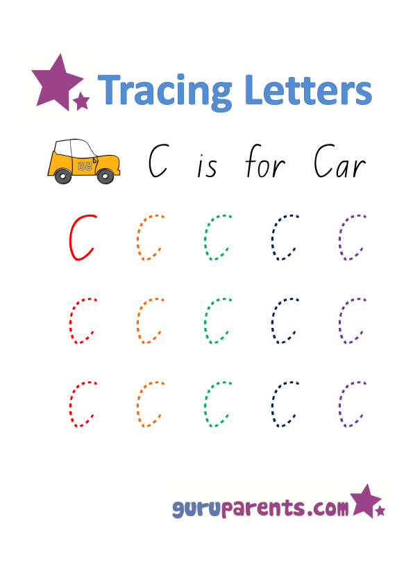 Free Letter C Worksheets for Preschool
