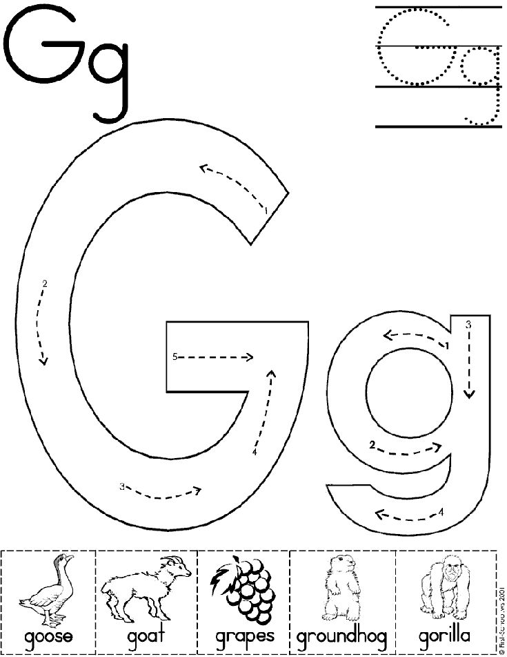 15 Exciting Letter G Worksheets for Kids | KittyBabyLove.com