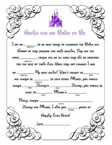Free Printable Bridal Shower Mad Libs Template