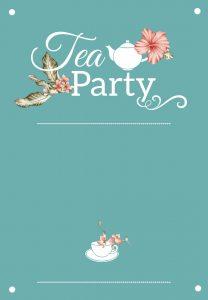 High Tea Bridal Shower Invitation Templates
