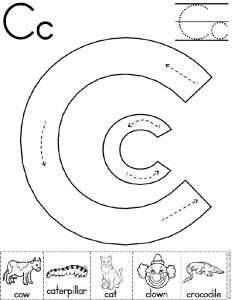 Letter C Cut and Paste Worksheet