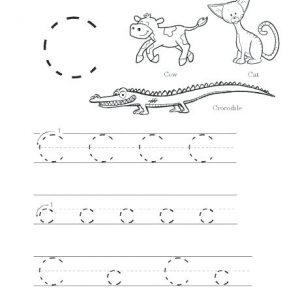 Letter C Tracing Worksheets for Preschool
