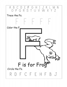 Letter F Tracing Worksheets for Preschool