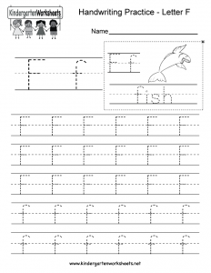Letter F Writing Worksheets