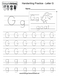 Letter G Printable Worksheets