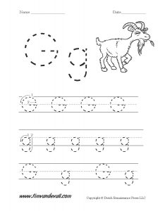 Letter G Tracing Worksheets for Preschool