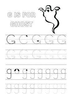 Letter G Worksheets For Kids