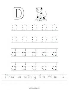 Tracing the Letter D Worksheets