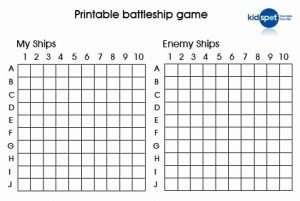 Travel Battleship Printable