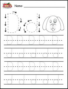Writing the Letter D Worksheets